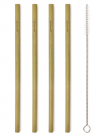 natural bamboo straws set 18 brush
