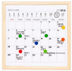 mini white board calendar